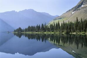 Perfect Reflection In A Mountain Lake, Glacier National Park, Montana